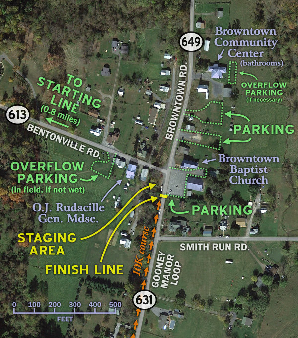 Route 522 Virginia Map.Driving Directions And Parking Greasy Gooney 10k Saturday 27